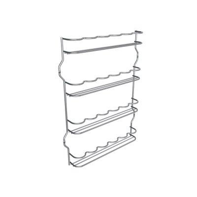 Kryddhylla för skåp - Wave (<b>Utförande:</b>: 360 mm bredd krom)