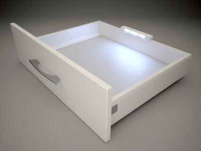 LED-belysning för lådor (<b>Färg:</b>: Grå)