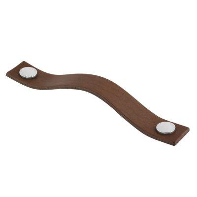 Levanto Läderhandtag (<b>Utförande:</b>: Brunt läder / Krom)