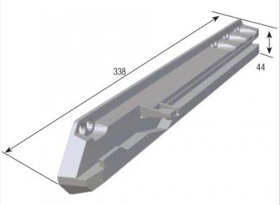 CC-Flex skena (<b>Utförande:</b>: Grå för 16 mm skåpsida)
